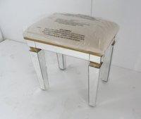 MR-401052 bedroom glass mirrored stool, ottoman, chair