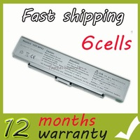 6 Cells New Battery for Sony VGP-BPS2 VGP-BPS2A VGP-BPS2B VGP-BPS2C Silver