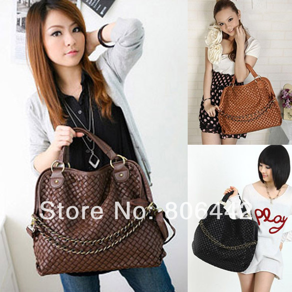 NEWEST Fashionable girls or ladies' PU Leather Shoulder Tote bag Handbag freeshipping dropshipping