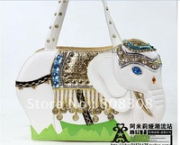 Amelia creative personality bag bag/make up the bag simulation India lovely elephant bag bag#2