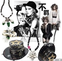 Amelia 2011 new punk personality style hat makeup bag bag single inclined shoulder across bag#2