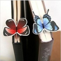 Free Shipping 50pcs/lot korean stationery butterfly bookmark, gift stationery, cartoon stationery