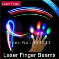 Wholesale - Kids toys 4 PCS LED Laser Finger Light Beams Ring for Party FREE SHIPPING