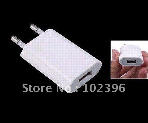 20pcs/lot High Quality USB EU plug adapter,EU Wall home adapter for iphone 4G 3G 3GS for ipad(China (Mainland))