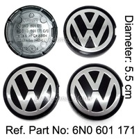 VW WHEEL CENTER HUB CAP FIT FOR Jetta Bora Golf Mk4 GTI R32 Passat B5 Polo 6N2 9N 9N3 Fox Lupo Mk4 Replace #6N0 601 171 5.5cm