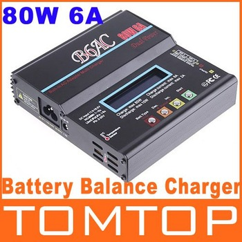 Battery Charger B6AC 80W 6A NiCd/MH/LiLo/LiFe/Pb RC Battery Balance Charger lithium battery charger free shipping Wholesale