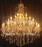 Big chandelier,hotel project/villa lighting fixture,28 lights luxury crystal chandelier