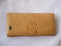 Wholesale - -freeshipping women's leather wallet/long purse