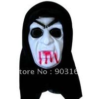 Wholesale 5pcs Halloween mask emulsion masks masquerade super white mask - terror + free shipping