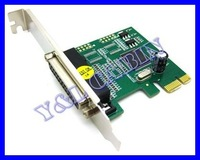 Printer DB25 Parallel Port LPT to PCI-E PCI Express Card Adapter Converter MCS9901, Free Shipping, Brand New, Wholesale/Retail