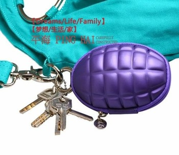 Bargains Promotion! Creative Multifunctional  grenades purse, grenade bag, key cases, wallets/Free Shipping