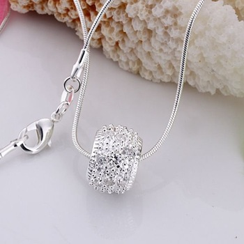 silver necklace pendant,high quality,Nickle free antiallergic,wholesale fashion jewelry,jewelry sets,GSSPPN024