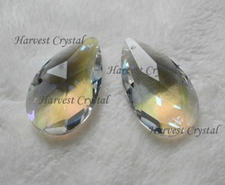 Free Express Shipping---AAA Top Quality 38m,50mm,63mm,76mm AB Crystal Colour Crystal Almonds(China (Mainland))