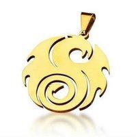 Bahamut King of Dragon Lagoon Gold Silver Titanium  Steel Necklace Pendant