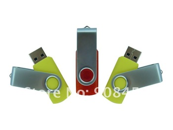 High Quality of  Metal USB Flash Drives with Classic Design, Rotary Cap, Various Colors Available