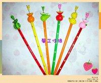 Lovely Stationery Korea Creative Gift Wooden Craft Cartoon Animal Pencil 120pcs/lot free shipping  mix order