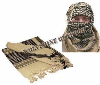 spedizione gratuita shemagh militare arabo tattico tan colore desert sciarpa kefiah 31008 ( military army tactical sciarpa scarf )