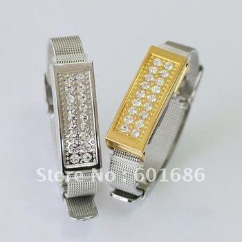 16G USB 2.0 Flash Drive Stick Bracelet Guaranteed full capacity 16GB U disk Jewelry memory Pen Drive Card Key New Hot