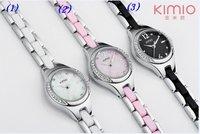 Dropshipping promotion 40pcs/lot new arrival Janpan quartz movement analog quartz women watch, high quality ,hot sale for lady