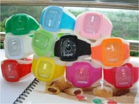HOT SALE!  EMS free shipping 100pcs/lot multicolor ODM silicone jelly watch