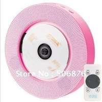 Wholesale HI-FI CD MP3 Player Wall-hooked CD Player FM Radio USB SD Card Player Pink Color