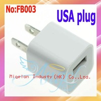 10pcs/lot Wholesale USB charger with USA plug+Free shipping #FB003