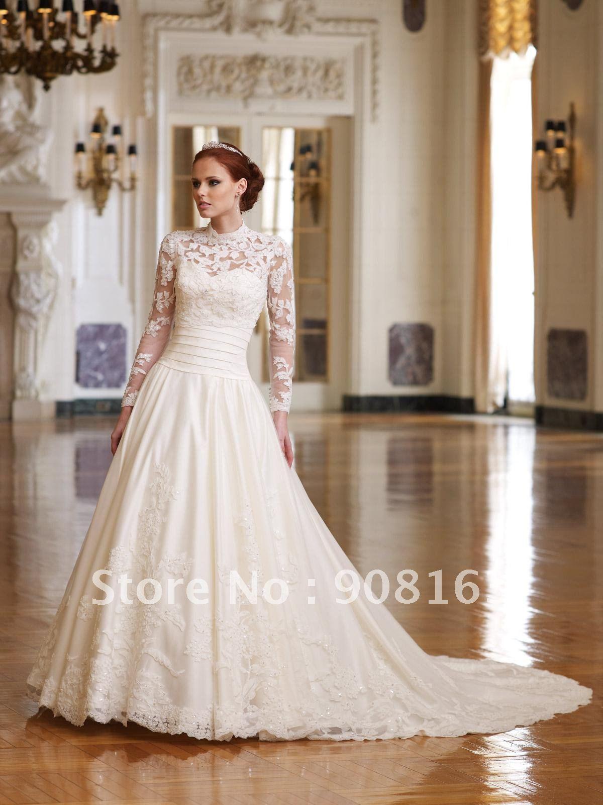 wd054 elegant lace top empire wedding dress designer 2012
