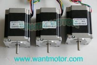 3 PCS 6-Leads 18.9Kgcm 1.8Degre 78mm CNC NEMA 23 Stepper Motor  of  Wantai