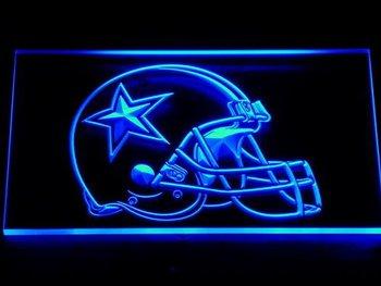 236-b Dallas Cowboys Helmet Beer Bar Neon Light Sign