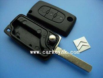 Folding Remote Key Case for CITROEN C3 C4 C5 C6 3 BUTTON Flip Switchblade