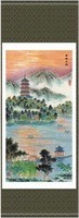 the best-selling 140*45 Chinese Silk Scroll Hang Landscape Painting for decoration,New arrivals,Free shipping