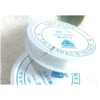 Free Shipping 10 Rolls stretch elastic beading cord For DIY craft Jewelry white 0.6mm 1WS38