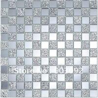 Free shipping bathroom tiles(crystal glass mosaic tile)!!
