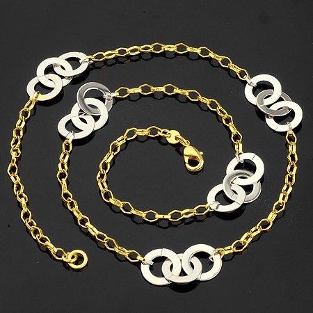 fashion jewelry necklace 450mm 18k yellow gold filled unique necklace jewelry jewellry chain necklace gift jewelry(China (Mainland))