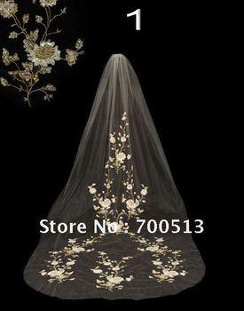 free shipping elegant bridal veil rayan wholesale applique beaing 10pcs/lot MOQ 1 lot