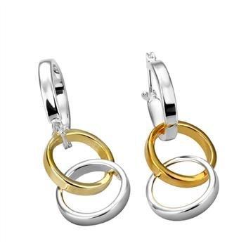 Бесплатная доставка 925 серебряные серьги, Разделение три раза серьги, 925 серебряные серьги оптовая продажа ювелирных изделий E107