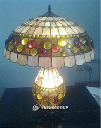 "D18"" Tiffany Glass Lamp,Reading Lamp,Hotal Lamp,TD029,Free Shipping(China (Mainland))"