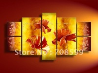 free shipping 7pcs/set beauty flowers High Quality Guaranteed 100% Handpainted flower  oil painting on canvas