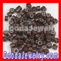 500pcs/lot,Wholesale Light Brown Silicone Micro Ring Beads For Hair Extension Kits,Free Shipping Hair DIY tool kit FE1007
