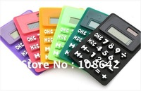 Free Shipping, Calculator, Fold Calculator, Silicon Calculator, Multi-color Solar Calculator, Gift Calculator