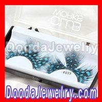 10pcs/lot,Free Shipping Natural Radiant Blue Feather False Eyelash Wholesale(FE2001)