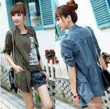 Wholesale/Gift/Freeshipping New Korean blue Coat Women Shitsuke Jacket 3380 S,M,L(China (Mainland))