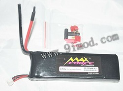 Max Force 11.1V 3200mah 20C 3S1P Li-Poly Rechargeable Battery(China (Mainland))