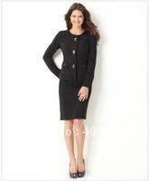 2011 Women Suit   Accept Custom Women Suit   Long Sleeve Crew Collar Jacket & Pencil Skirt   Women's Wear  Women's Casual   697