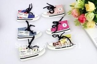 new arrival Free shipping,25pcs/lot,Canvas shoes paper note pad memo/sticky note/ScratchPad notebook/fashion cartoon notebook/