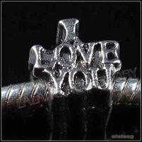 30pcs/lot Wholesale Fashion Letters Alloy Charms Beads Ancient Sliver Plated 10x9x8mm Fit European Bracelet DIY 151245
