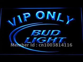 092-b Bud Light VIP Only Bar Beer Neon Light Sign