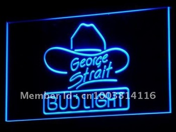 a116-b Bud Light George Strait Bar Pub Neon Light Signs