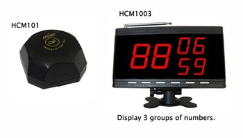 call bell system for a restaurant or bar of 10 tables. including 10 pcs table buzzer and 1 pcs of LCD monitor
