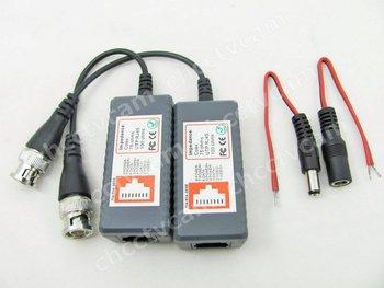 New CCTV BNC Video Balun Power Video Coax RJ45 UTP For Cameras free shipping